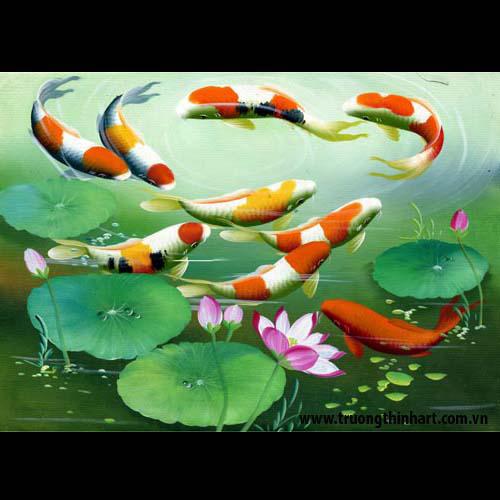 Tranh Cá Chép - Mã: TCC010