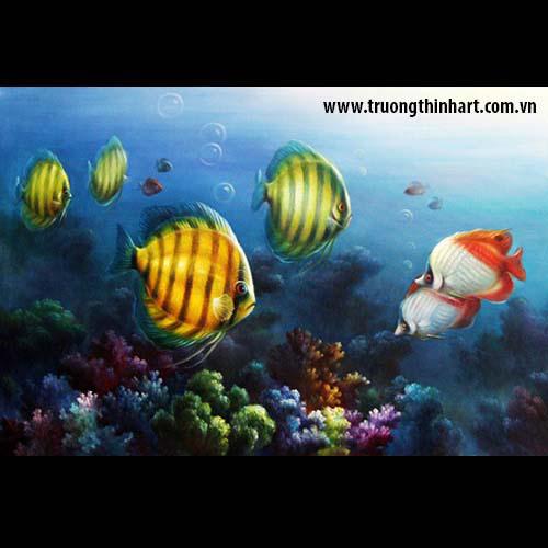 Tranh Cá Chép - Mã: TCC016
