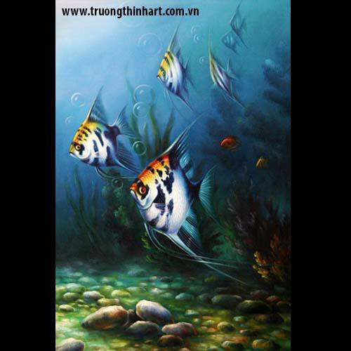 Tranh Cá Chép - Mã: TCC018