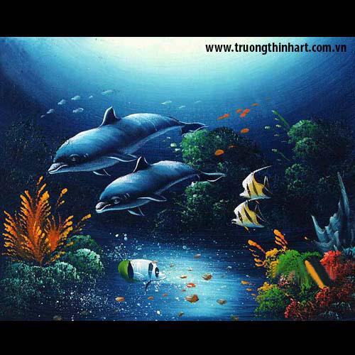 Tranh Cá Chép - Mã: TCC019