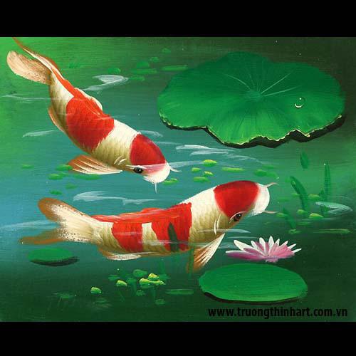 Tranh Cá Chép - Mã: TCC020