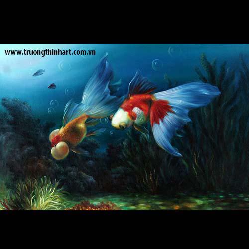 Tranh Cá Chép - Mã: TCC022