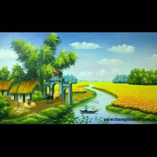 Tranh đồng quê - Mã: TSDTDQ011