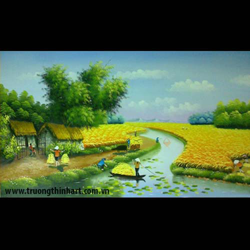 Tranh đồng quê - Mã: TSDTDQ012