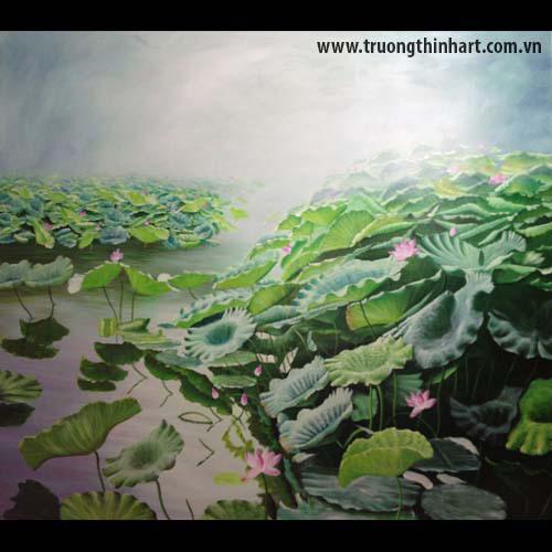 Tranh hoa Sen - Mã: SDTHS001