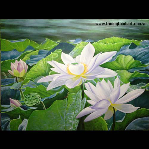 Tranh hoa Sen - Mã: SDTHS002