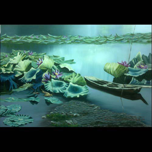 Tranh hoa Sen - Mã: SDTHS005