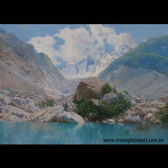 Tranh núi rừng - Mã: TNR086