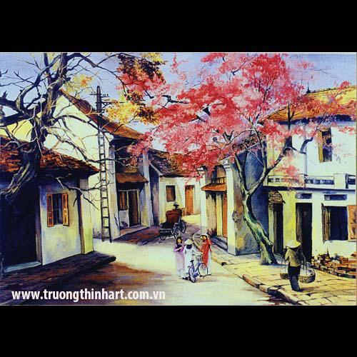 Tranh phố cổ - Mã: TPC012