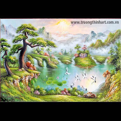 Tranh Sơn Thủy - Mã: TSDTST001