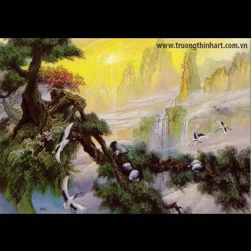 Tranh Sơn Thủy - Mã: TSDTST003