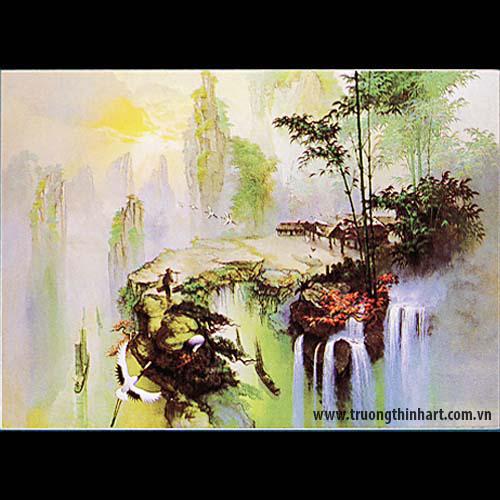 Tranh Sơn Thủy - Mã: TSDTST004