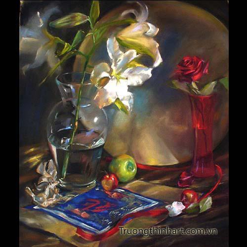 Tranh tĩnh vật Hoa quả - Mã: TTVHQ006