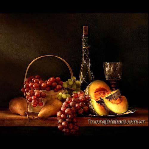 Tranh tĩnh vật Hoa quả - Mã: TTVHQ009