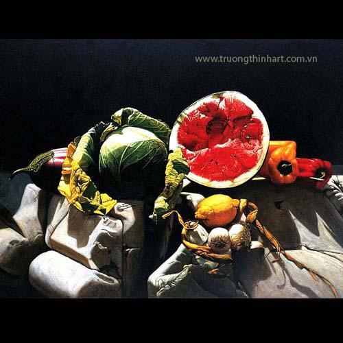 Tranh tĩnh vật Hoa quả - Mã: TTVHQ010