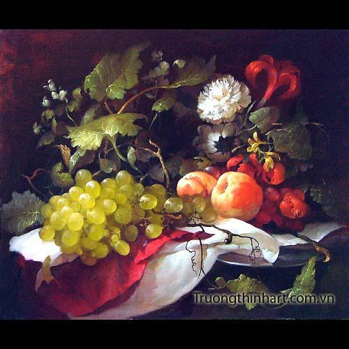 Tranh tĩnh vật Hoa quả - Mã: TTVHQ012