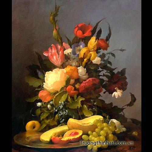 Tranh tĩnh vật Hoa quả - Mã: TTVHQ013