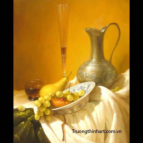 Tranh tĩnh vật Hoa quả - Mã: TTVHQ014