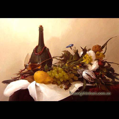 Tranh tĩnh vật Hoa quả - Mã: TTVHQ015