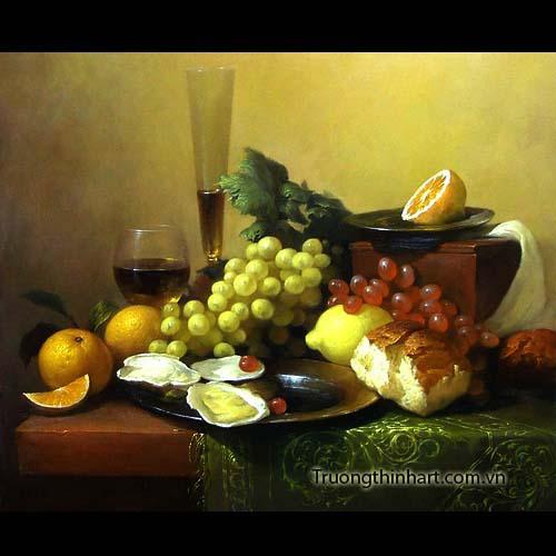 Tranh tĩnh vật Hoa quả - Mã: TTVHQ017
