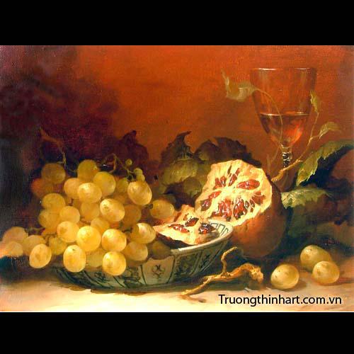 Tranh tĩnh vật Hoa quả - Mã: TTVHQ020