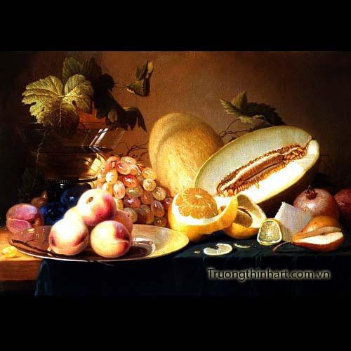 Tranh tĩnh vật Hoa quả - Mã: TTVHQ022