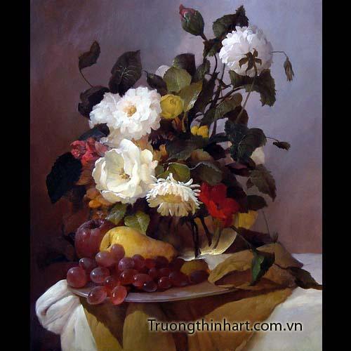 Tranh tĩnh vật Hoa quả - Mã: TTVHQ023