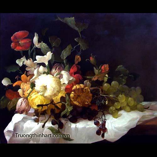 Tranh tĩnh vật Hoa quả - Mã: TTVHQ025
