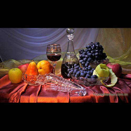 Tranh tĩnh vật Hoa quả - Mã: TTVHQ028