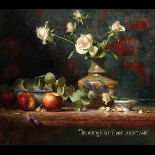 Tranh tĩnh vật Hoa quả - Mã: TTVHQ038