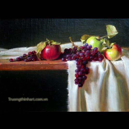 Tranh tĩnh vật Hoa quả - Mã: TTVHQ051