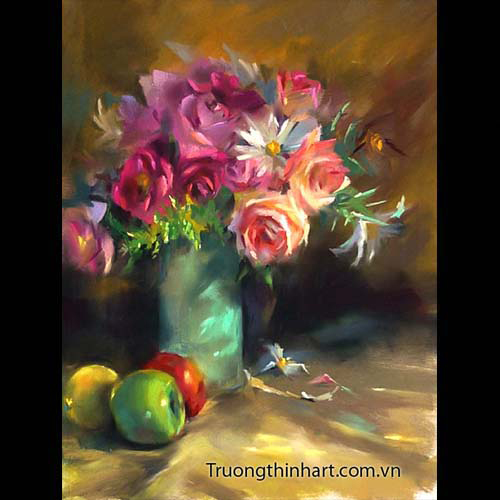 Tranh tĩnh vật Hoa quả - Mã: TTVHQ058