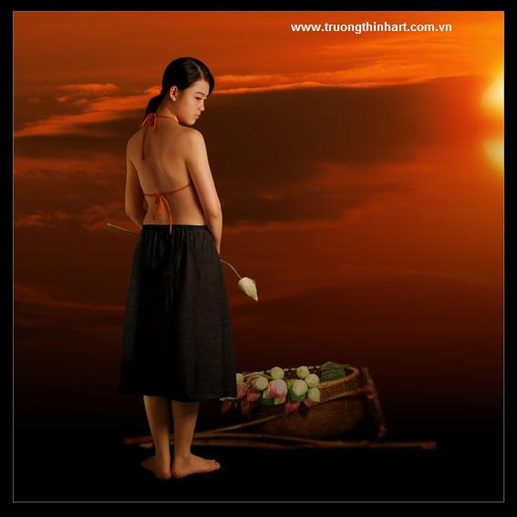 Tranh thiếu nữ Việt Nam - Mã: TSTTTNVN001