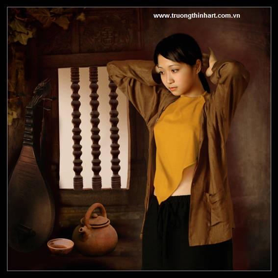 Tranh thiếu nữ Việt Nam - Mã: TSTTTNVN002
