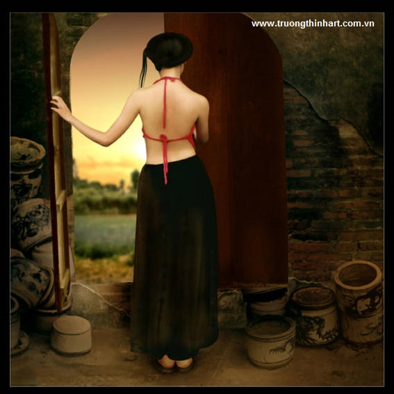 Tranh thiếu nữ Việt Nam - Mã: TSTTTNVN003