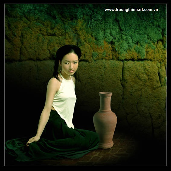 Tranh thiếu nữ Việt Nam - Mã: TSTTTNVN004