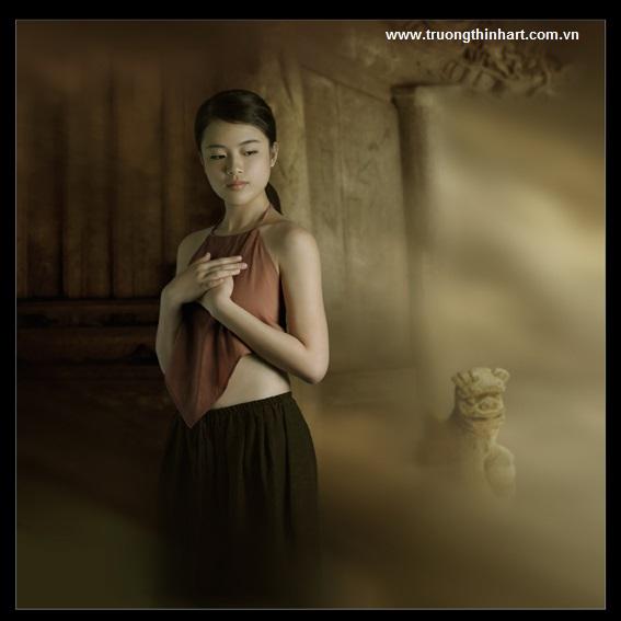 Tranh thiếu nữ Việt Nam - Mã: TSTTTNVN005