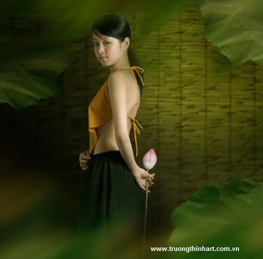 Tranh thiếu nữ Việt Nam - Mã: TSTTTNVN006