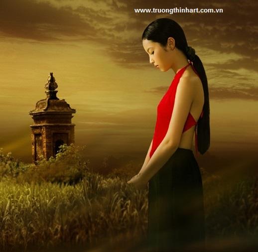 Tranh thiếu nữ Việt Nam - Mã: TSTTTNVN007