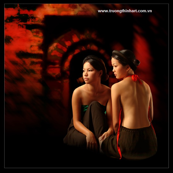 Tranh thiếu nữ Việt Nam - Mã: TSTTTNVN008