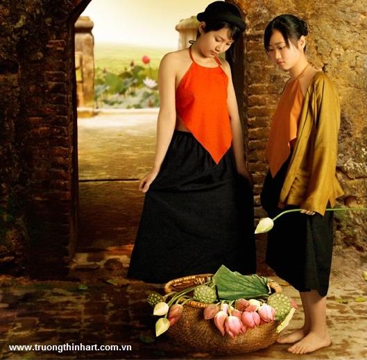 Tranh thiếu nữ Việt Nam - Mã: TSTTTNVN009