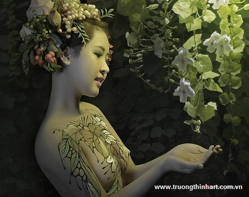Tranh thiếu nữ Việt Nam - Mã: TSTTTNVN011