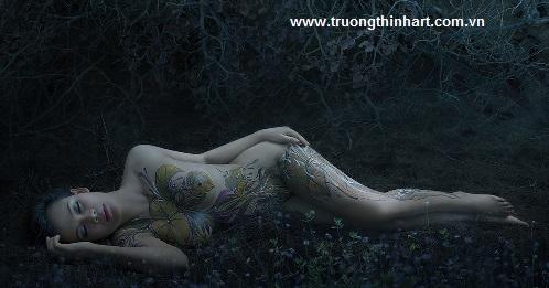 Tranh thiếu nữ Việt Nam - Mã: TSTTTNVN013