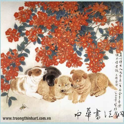 Tranh Chó - Mã: TMTC003