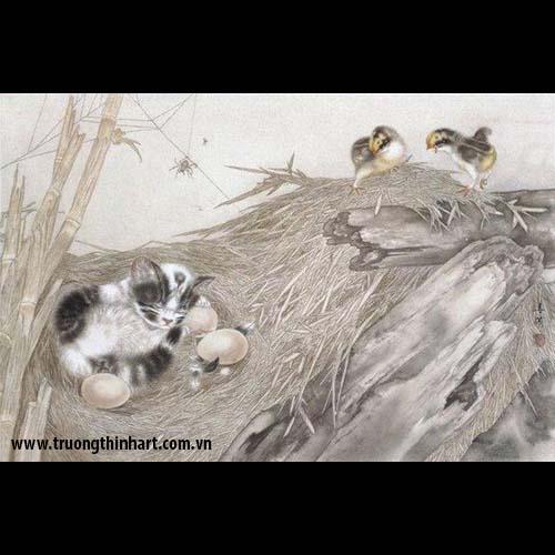 Tranh Mèo - Mã: TMTMEO002