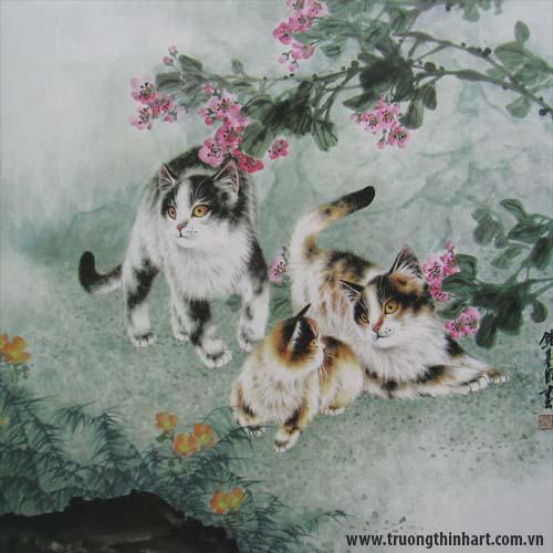Tranh Mèo - Mã: TMTMEO013
