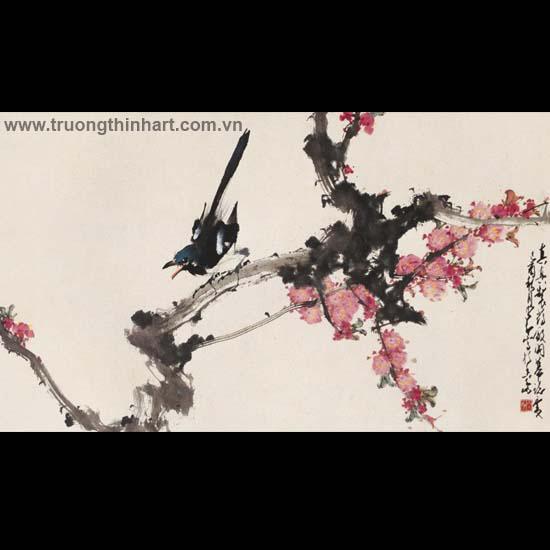 Tranh hoa cỏ và côn trùng - Mã: TMTHCVCT019