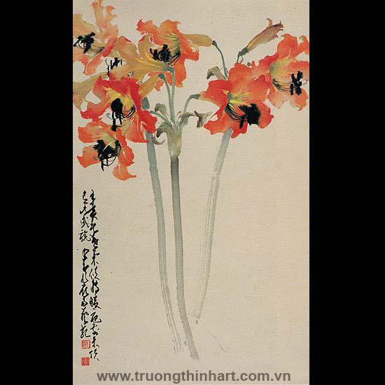 Tranh hoa cỏ và côn trùng - Mã: TMTHCVCT020
