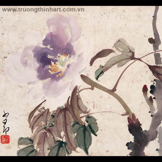 Tranh hoa cỏ và côn trùng - Mã: TMTHCVCT025