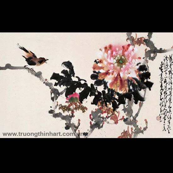 Tranh hoa cỏ và côn trùng - Mã: TMTHCVCT039